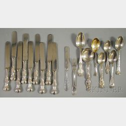 Eighteen Miscellaneous Sterling Silver Flatware Items