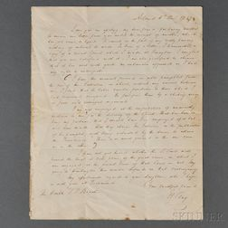 Clay, Henry (1777-1852) Autograph Letter Signed, Ashland, 6 December 1847.