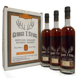 Buffalo Trace Antique Collection George T. Stagg Spring (B) 2005, 3 750ml bottles (oc)