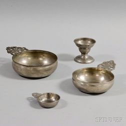 Four Pewter Items