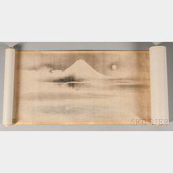 Hand Scroll Depicting Eight Views of Mt. Fuji