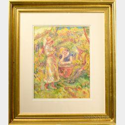 American School, 20th Century      Homage to Renoir: Three Figures at Leisure