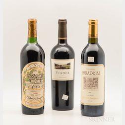 Mixed Napa Wines, 3 bottles