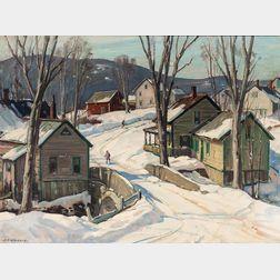Aldro Thompson Hibbard (American, 1886-1972)      Rustic Bridge