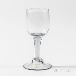 Dutch Stipple Glass Air Twist Goblet
