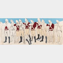 Larry Rivers (American, 1923-2002)      Redcoats (fold out)