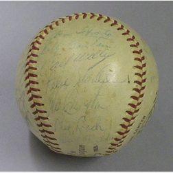 1959 Milwaukee Braves Autographed Baseball