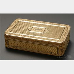 Fine Gold Musical Snuff Box
