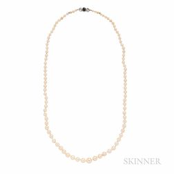 Art Deco Cultured Pearl Necklace
