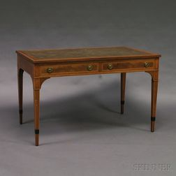 Beacon Hill Furniture George III-style Inlaid Mahogany Library Table