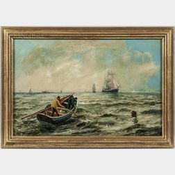 Bernard Benedict Hemy (British, 1845-1913)      Net Fishing