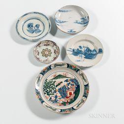 Five Delft Plates