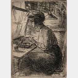 John French Sloan (American, 1871-1951)      Three Works: Treasure Trove