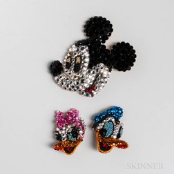Two Pieces of Wendy Gell for Disney Rhinestone Jewelry