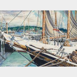 John Rutherford Boyd (American, 1884-1951)      Dockside View