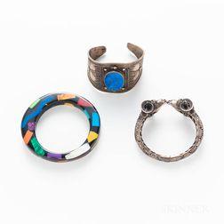 Three Costume Bracelets