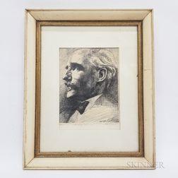 John Hansegger (American, 1908-1989)      Maestro Toscanini