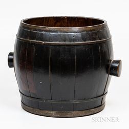 Lacquered Wood Grain Barrel