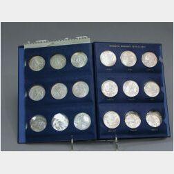 Collection of Morgan Silver Dollar Coins 1887-1896