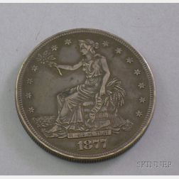 1877 Trade Dollar Sweetheart Locket.