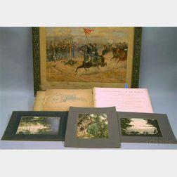 Louis Prang Chromolithograph, a Set of Three 1898 Detroit Photographic Co. Niagara Falls Prints, and Late 19th ...