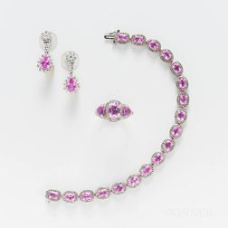 Group of Pink Stone Jewelry