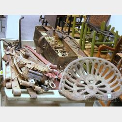 Large Lot of Assorted Metal and Wood Architectural and Furniture Hardware