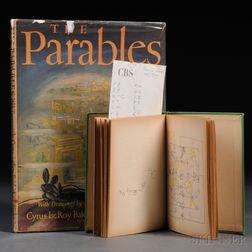 Baldridge, Cyrus Leroy (1889-1977) Manuscript Notebook and The Parables