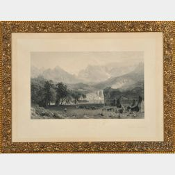 J. Smillie, Engraver, After Albert Bierstadt (New York/California/Massachusetts, 1830-1902)       The Rocky Mountains