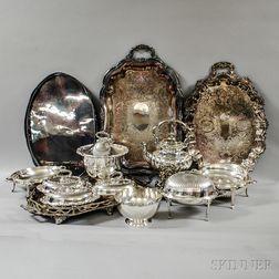 Thirteen Silver-plated Tableware Items