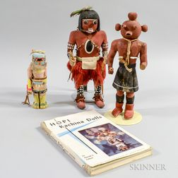 Three Hopi Polychrome Wood Katsinas