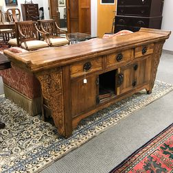 Elmwood Coffer Table