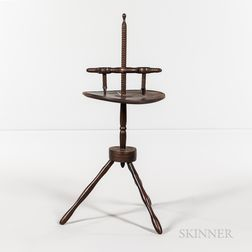 Turned Adjustable Two-light Candlestand