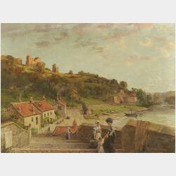 Alfred Addy (American, 19th/20th Century)  Knoresborough, Yorks