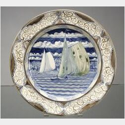"""Wedgwood """"Alfred Powell"""" Decorated Queen's Ware Dish"""