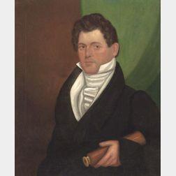 American School, 19th Century    Portrait of Sea Captain John Dyer Potter of Duxbury, Massachusetts.