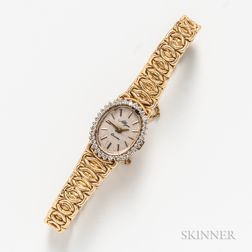 14kt Gold and Diamond Lady's Wristwatch