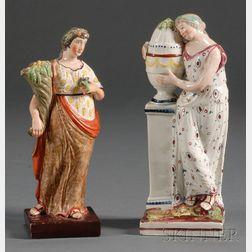Two Earthenware Figures