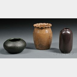 Three Pieces of Merrimac Pottery