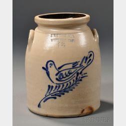 """Worcester Dove"" Cobalt-decorated Stoneware Jar"