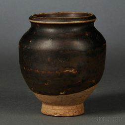 Black-glazed Miniature Jar