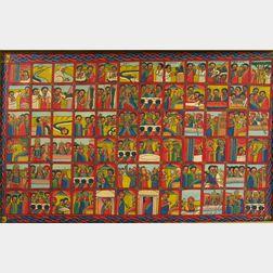 Ethiopian School, 20th Century      Framed Work.