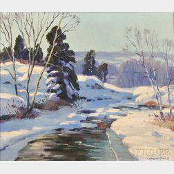 Charles Gordon Harris (American, 1891-1963)      Brook in Winter