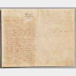 Monet, Claude (1840-1926) Autograph Letter Signed, 15 December 1896.