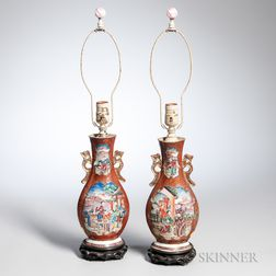 Pair of Export Porcelain Vases