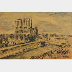 Arturo Souto Feijoo (Spanish-American, 1901-1964)      Notre Dame