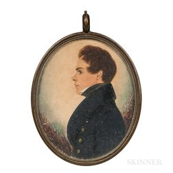 Attributed to James H. Gillespie (British/American, 1793-after 1849)      Profile Portrait of a Young Man