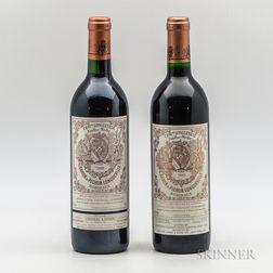Chateau Pichon Baron 1989, 2 bottles