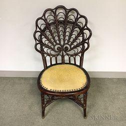 Heywood-Wakefield Fancy Wicker Chair