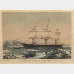 """Nathaniel Currier, publisher (American, 1813-1888)  CLIPPER SHIP """"RED JACKET."""""""